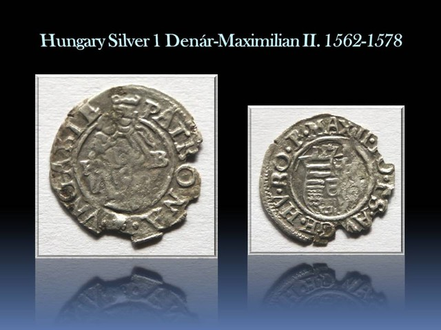 Hungary Silver 1 Denár-Maximilian II. 1562-1578 EH#766