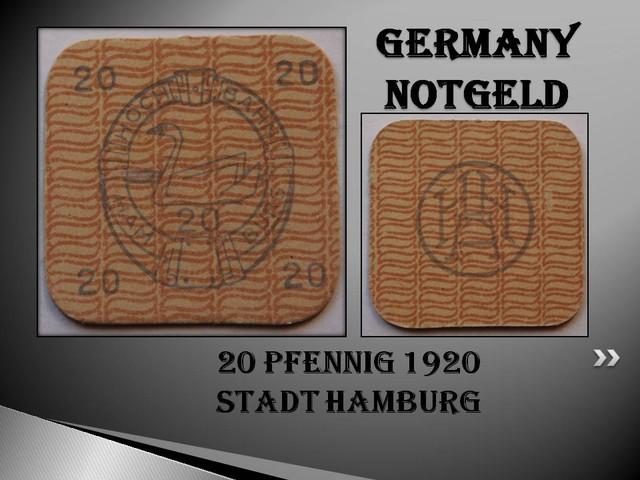 GERMANY NOTGELD 20 Pfennig 1920