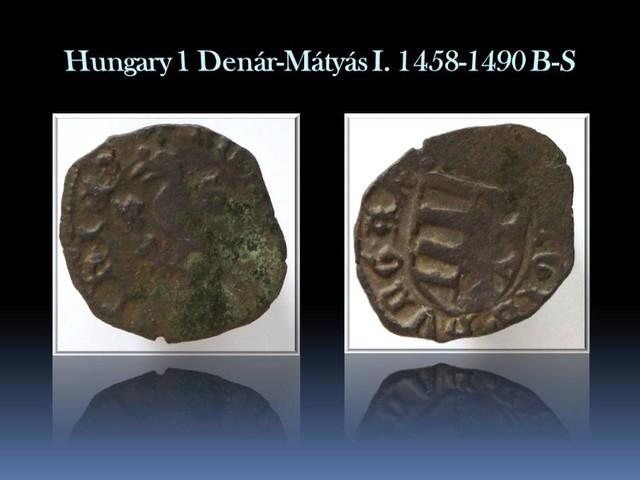 Hungary 1 Denár-Mátyás I. 1458-1490 B-S EH#558a