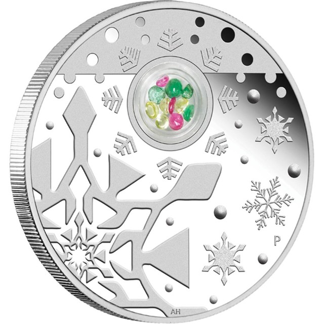 2012 CHRISTMAS  COIN N GEMSTONE  LOCKET ONE OUNCE