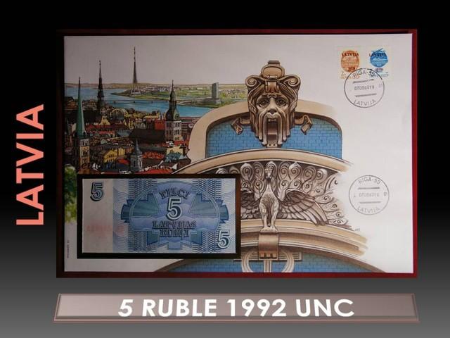 Latvia 5 Ruble 1992 UNC