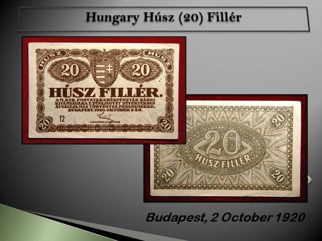Hungary Húsz (20) Fillér 1920 !!