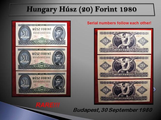 Hungary Húsz (20) Forint 1980 AUNC (Piece:3)