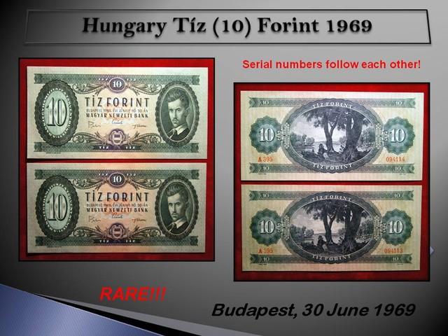 Hungary Tíz (10) Forint 1969 AUNC (Piece:2)