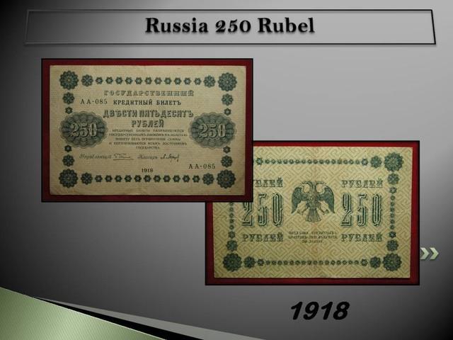 Russia 250 Rubel 1918