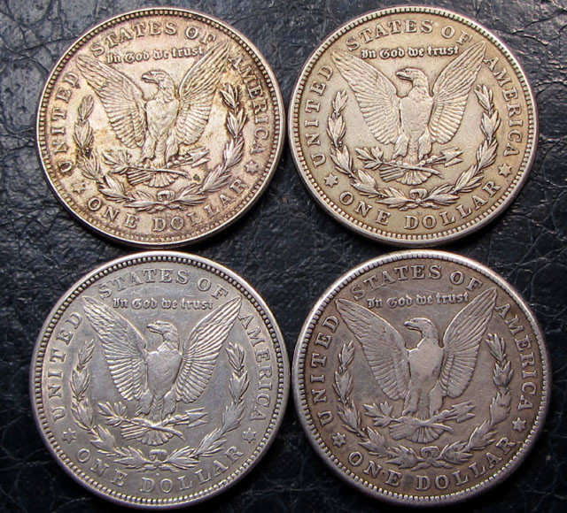 1921   FOUR  PEACE DOLLAR SILVER COINS   CO1611