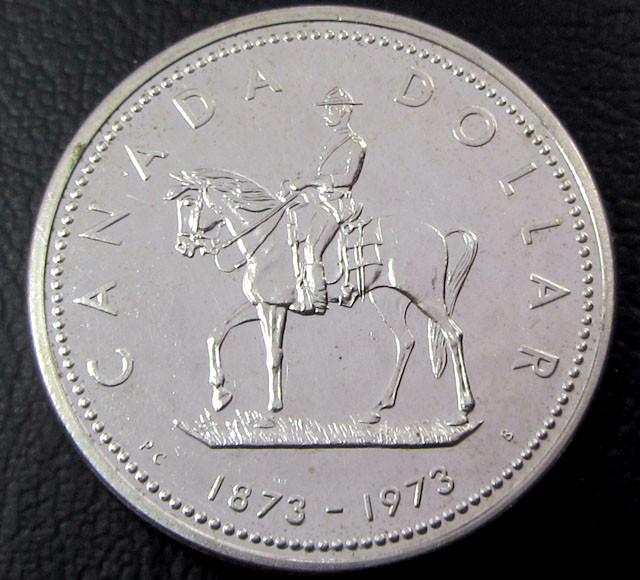 1973  CANADIAN ONE DOLLAR  SILVER COIN CO 1636