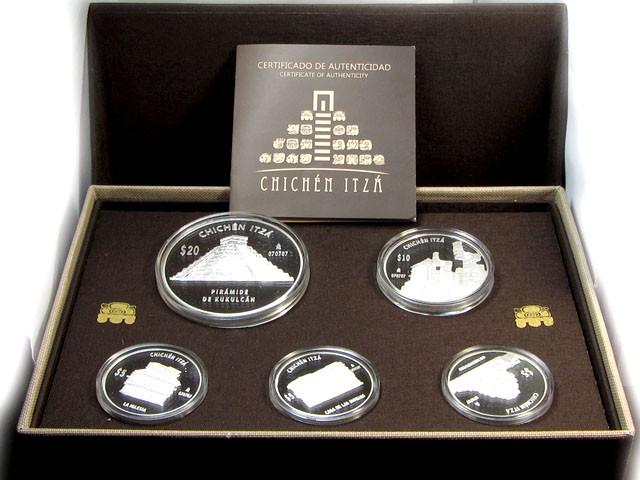 10 OZ Silver 2012 Chichen Itza Proof Coin Series Set