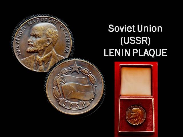 Lenin Bronze Communnist Plaque (Checholslovakia-USSR)