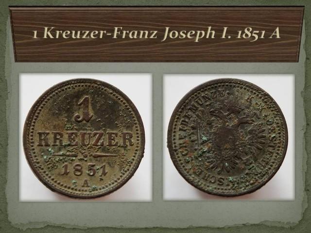 Austria 1 Kreuzer-Franz Joseph I. 1851 A KM#2185