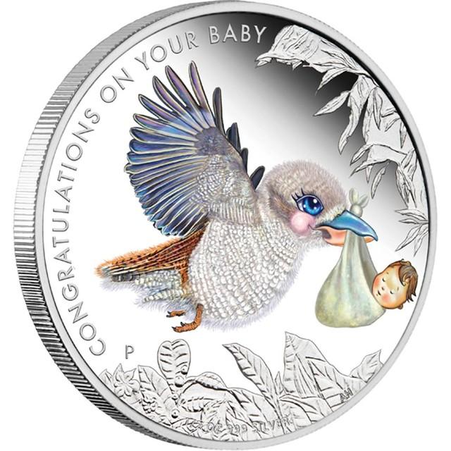 2013 NEWBORN BABY 1/2OZ SILVER PROOF COIN