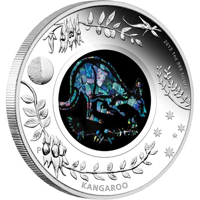 Kangaroo Opal Coin 2013 one ounce Proof silver