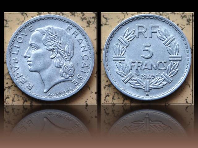 France 5 Francs 1949 B KM#888b