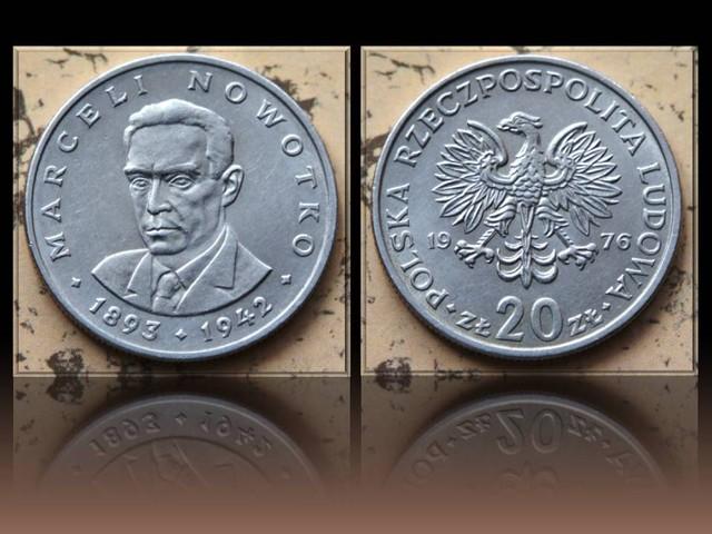 Poland 20 Zlotych (Marceli Nowotko 1893-1942) 1976 Y#69