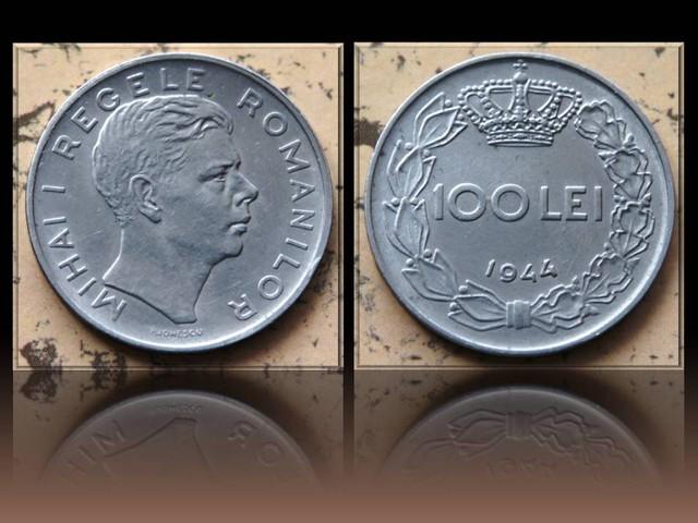 Romania 100 Lei-Mihai I. 1944 KM#64