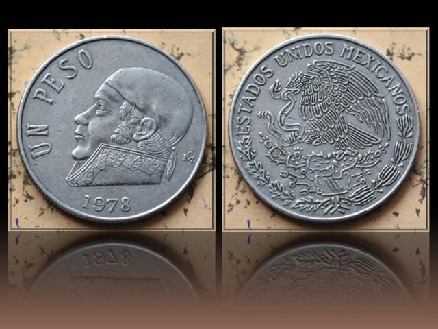 Mexico 1 Peso 1978 Mo KM#460