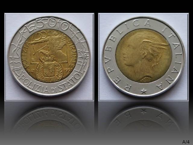 Italy 500 Lire 1997 (National Police Code) KM#187