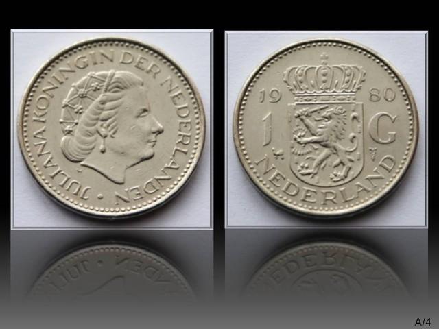 Netherlands 1 Gulden-Juliana 1980 KM#184a