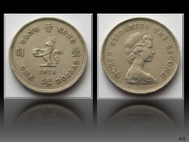Hong Kong 1 Dollar-Elizabeth II. 1978 KM#43