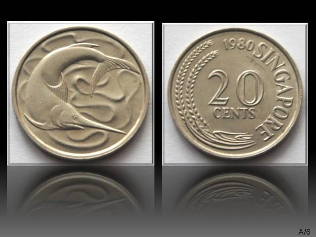Singapore 20 Cents 1980 KM#4