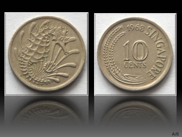Singapore 10 Cents 1968 KM#3