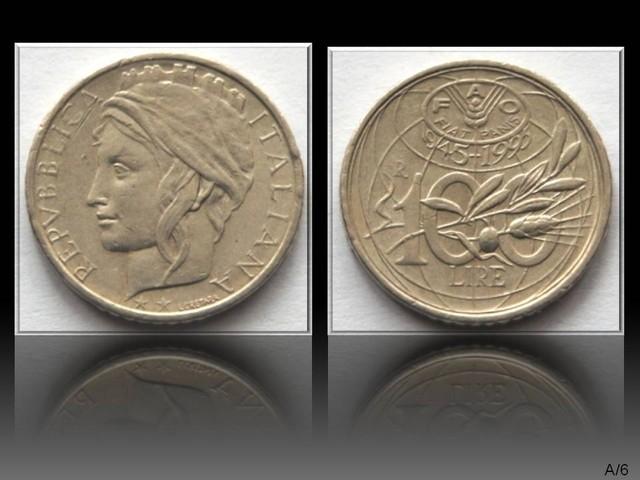 Italy 100 Lire (FAO) 1995 KM#180