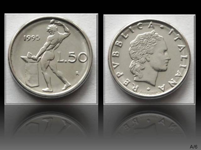Italy 50 Lire (small type) 1995R KM#95.2