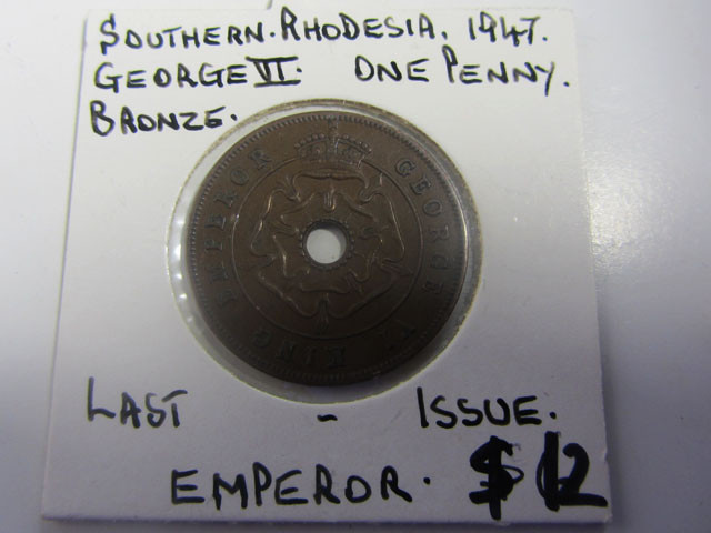 LAST ISSUE EMPORER ONE PENNY COIN J 2002