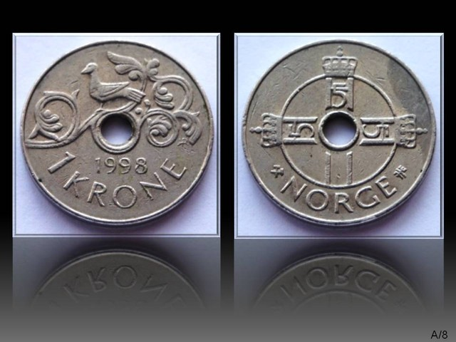 Norway 1 Krone-Harald V. 1998 KM#462