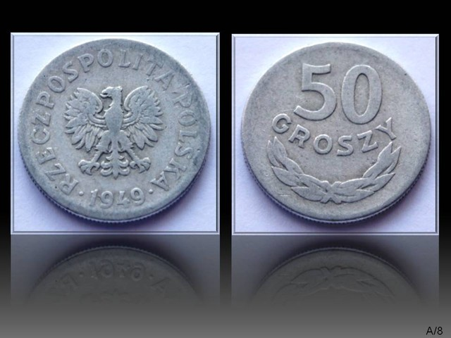 Poland 50 Groszy 1949 Y#44a