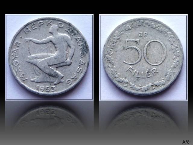 Hungary 50 Fillér 1953 KM#551