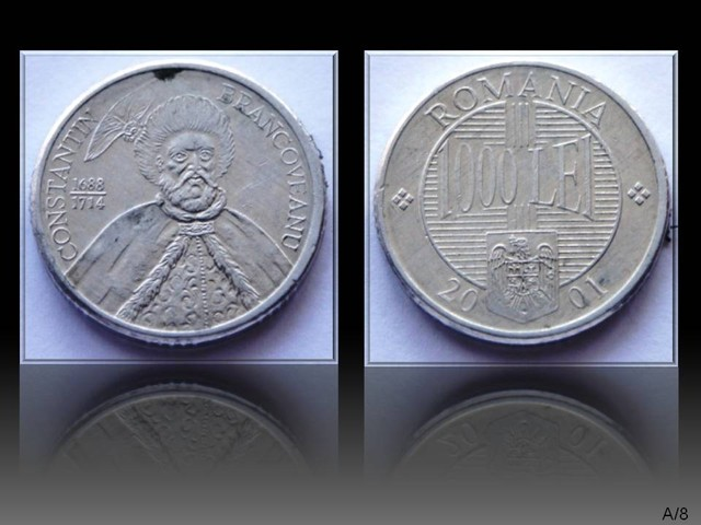 Romania 1000 Lei-Constantin Brancoveanu 2001 KM#153