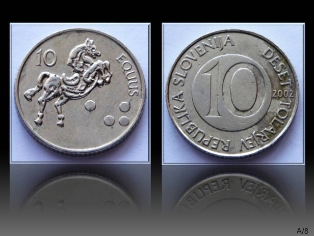 Slovenia 10 Tolarjev 2002 KM#41