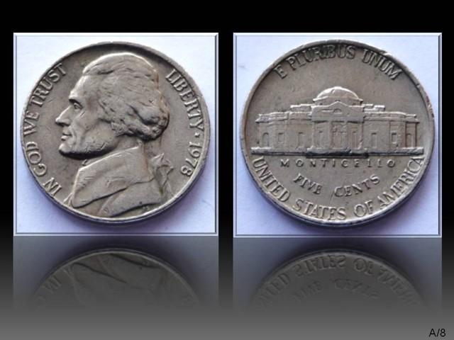 "United States 5 Cents ""Jefferson Nickel"" 1978 KM#192"