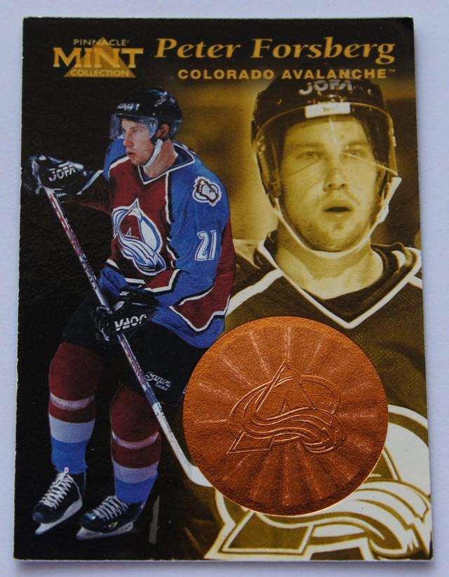 1997 Pinnacle Mint Bronze Hockey Cards Peter Forsberg