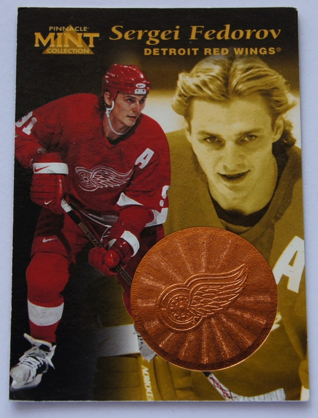 1997 Pinnacle Mint Bronze Hockey Cards Sergei Fedorov