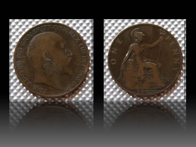 United Kingdom 1 Penny-Edward VII. 1910 KM#794