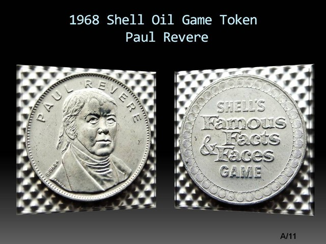 1968 Shell Oil Game Token Paul Revere