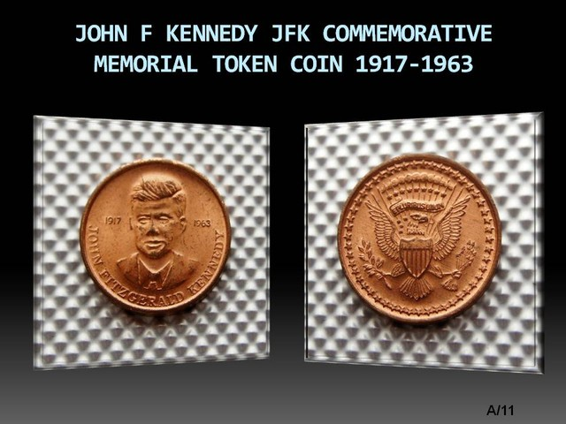 JOHN F KENNEDY JFK COMMEMORATIVE MEMORIAL COIN 1917-1963