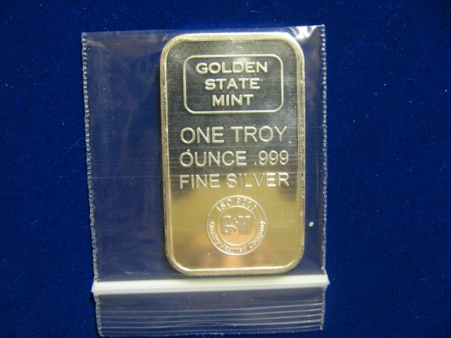 2013 1 OZ. Bar .999 Fine Silver Bullion