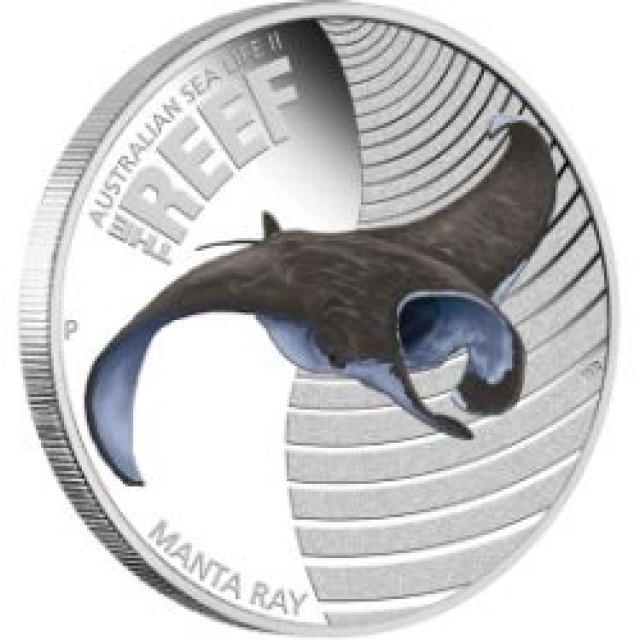 Sea Life II – The Reef – Manta Ray 2012 1/2oz Silver Proof