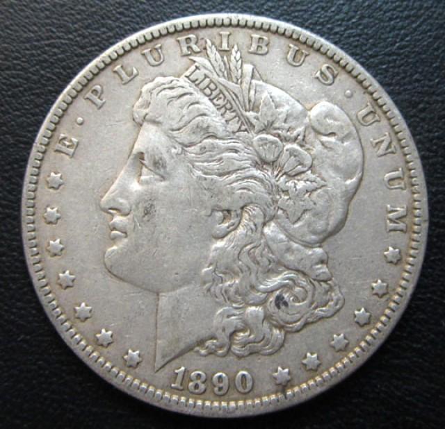 1890 MORGAN DOLLAR SILVER COIN   CO 1702