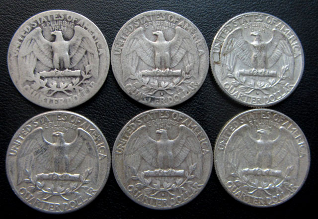 Parelsix  90% silver quarters CO 1713