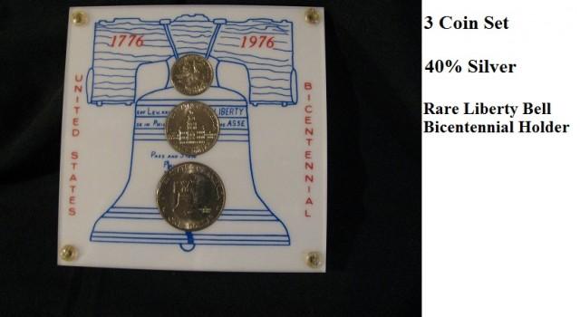 US Mint 1976 Bicentennial SILVER Proof Set & Rare Holder