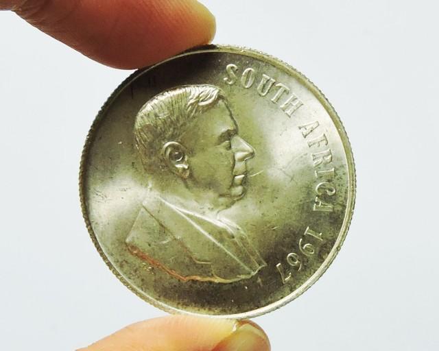 South Africa 1967 1 Rand Dr. Verwoerd; Afrikaans  CO 1736