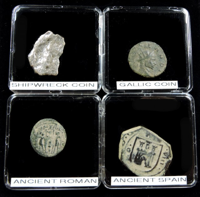 DISPLAY CASE SHIPWRECK & ANCIENT COIN TREASURES 13-150 (SAT)