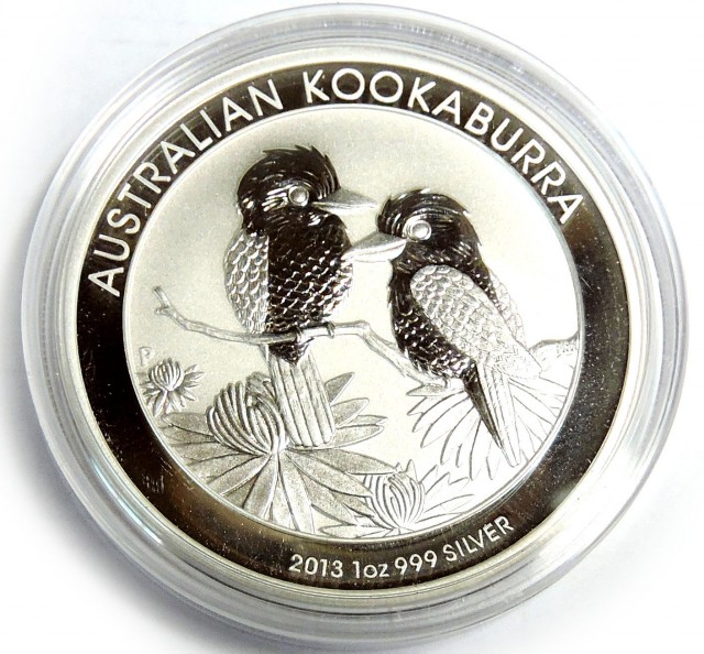 2013 Silver Kookaburra Coin One ounce