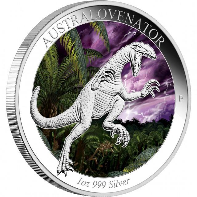 AUSTRALOVENATOR 2014 1OZ SILVER PROOF COLOURED COIN