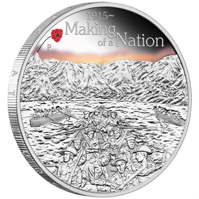 THE ANZAC SPIRIT 100TH ANNIVERSARY COIN 2015 1OZ SILVER PROOF COIN
