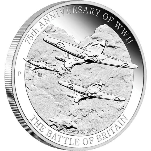 The Battle Britian 75Th Anniversary silver coin